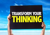 pic of transformation  - Transform Your Thinking card with beach background - JPG