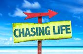 picture of chase  - Chasing Life sign with beach background - JPG
