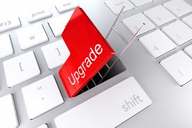 stock photo of underpass  - keyboard with red enter button open revealing underpass and ladder illustration - JPG