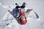 A Girl On Snow