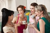 image of tea party  - Four retro - JPG