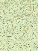 Vector abstractos mapa topográfico con ningún nombre
