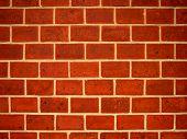 Profile Of A Brick Wall
