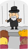 Illustration of a Rabbi at Work
