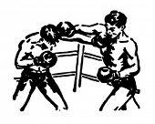 Boxing Match - Retro Ad Art Illustration