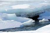 Breakup of Alaska River Ice in Spring
