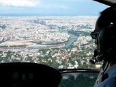 Landing In Paris By Helicopter