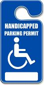 Handicap Permit parking tag sign