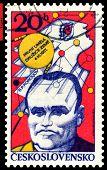 Vintage  Postage Stamp.  Sergey Korolev.