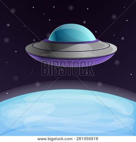 Ufo Ship Near The Earth