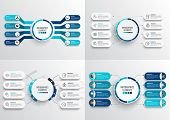 Set Vector Infographic Template With 3d Paper Label, Integrated Circles. Business Concept With 8 Opt poster