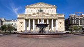 Moscow. Russia. The State Academic Bolshoi Theater In Moscow poster