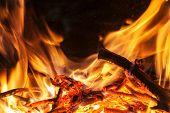 Burning Billets In Hot Stove poster