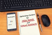 Search Engine Optimization Strategies For Marketers To Optimize Content For Voice Search. People Sea poster