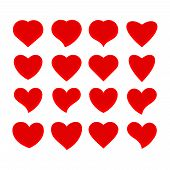Heart Icon Isolated On White Background. Heart Icon Modern Symbol For Graphic And Web Design. Heart  poster