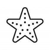 Sea Star Vector Icon On White Background. Sea Star Icon In Modern Design Style. Sea Star Vector Icon poster