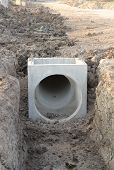 Concrete Drainage Tank On Construction