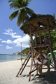 picture of batangas  - lifeguards tower on beach in nasugbu batangas the philippines - JPG