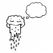 picture of puke  - gross raincloud cartoon - JPG