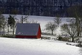 Kentucky Farm After Snow