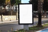 Billboard With White Space For Streets Advertising Blank Advertising Billboard poster