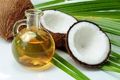 stock photo of coco  - Coconut oil for alternative therapy - JPG