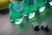 Absinthe Shot Glass Sugar Studio Quality Light poster