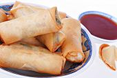 Fresh Egg-Rolls Traditional Chinese Food