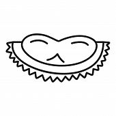 Tasty Durian Slice Icon. Outline Tasty Durian Slice Vector Icon For Web Design Isolated On White Bac poster