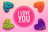 Postcard I Love You. Feelings Of Lovers. Banner With Text I Love You. Love poster