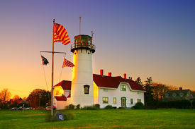 stock photo of cape-cod  - Chatham Lighthouse is a lighthouse in Chatham Massachusetts near the  - JPG