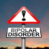 Concepto de trastorno bipolar.