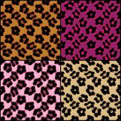 pic of ocelot  - Seamless leopard print tiles in a variety of colors - JPG