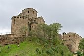 stock photo of parador  - Parador de Cardona a 9th Century medieval hillside Castle near Barcelona Catalonia Cardona Spain - JPG