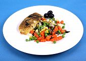 Fish With Vegetables And Olive
