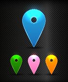 Set Of Vector Colorful Map Pins Pointer,user Interface Map Marker, Eps 10