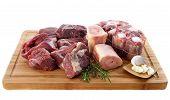 Variedade de carne de bovino