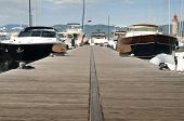 Anchored Yachts In St. Tropez
