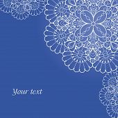 picture of doilies  - Background with lace ornament and space for your text - JPG