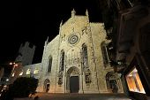 Medieval Como Cathedral In Night