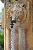 Stone Fountain With Lion Face