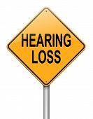 Conceito de perda de audição.