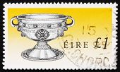 stock photo of chalice antique  - a stamp printed in the Ireland shows Ardagh Chalice - JPG