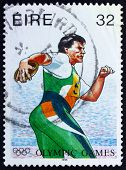 Postage stamp Ireland 1996 Discobolus, 1996 Paralympic Games, At