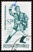 Postage stamp Austria 1970 The Beggar Student, Operetta