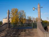 pic of sankt-peterburg  - a small pedestrian bridge over the canal Sankt - JPG