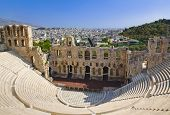 stock photo of parthenon  - The Odeon theatre at Athens Greece  - JPG