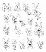foto of gnat  - Some cartoon insects  - JPG
