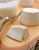 Sliced White Ricotta Cheese
