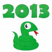 Rice Paper Cut Cute Cartoon Green Snake With 2013